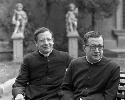 Alvaro del Portillo en compagnie du fondateur de l'Opus Dei