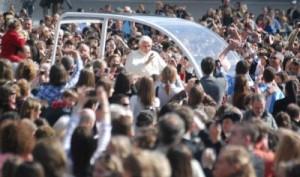 Les jeunes de l'Univ à l'audience avec le Pape